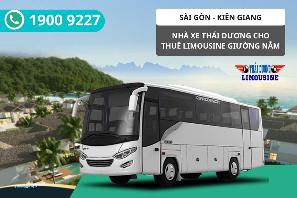 Nhà xe Thái Dương cho thuê xe Limousine giường nằm đi Kiên Giang