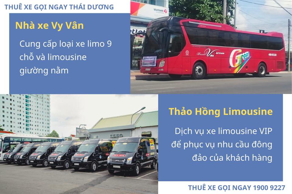 Nhà xe Vy Vân và Nhà xe Thảo Hồng Limousine