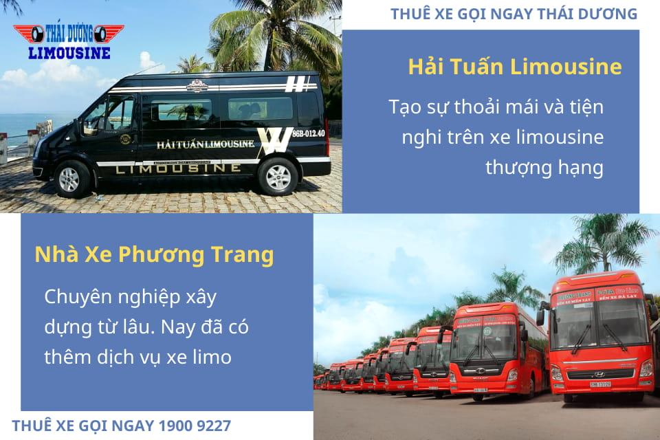 Nhà xe Hải Tuấn Limousine và Nhà xe Phương Trang