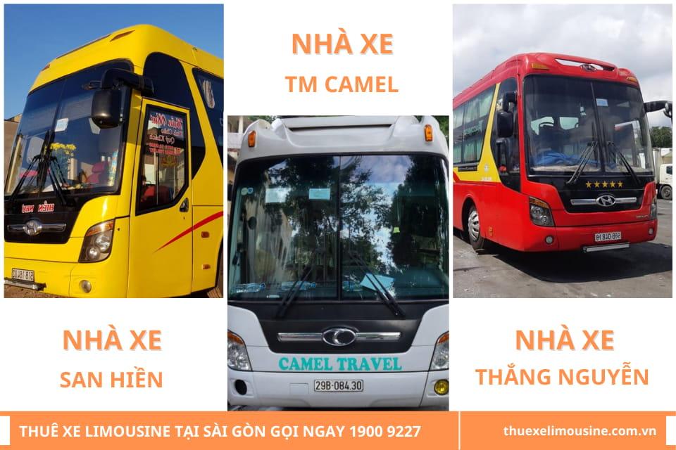 Nhà xe TM Camel, Nhà xe San Hiền và Nhà xe Thắng Nguyễn